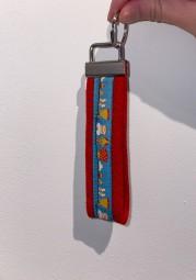 Schlüsselanhänger rot\hell blau