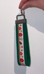 Schlüsselanhänger grün\weiß