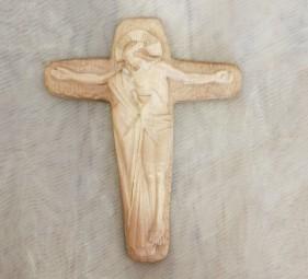 Holzkreuz Christus mit Maria