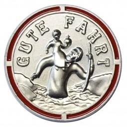 Heiliger Christophorus Plakette rot